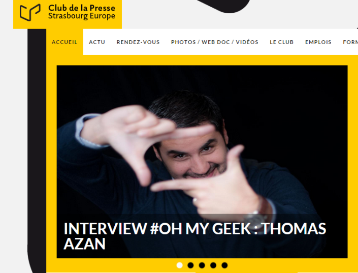 Interview Thomas Azan Club de la Presse Strasbourg